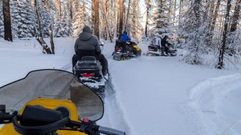 Snowmobiling in Michigan