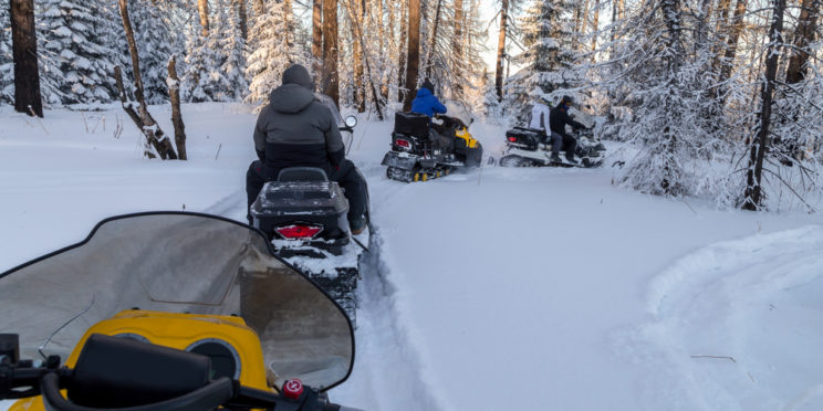 Snowmobiling in Michigan
