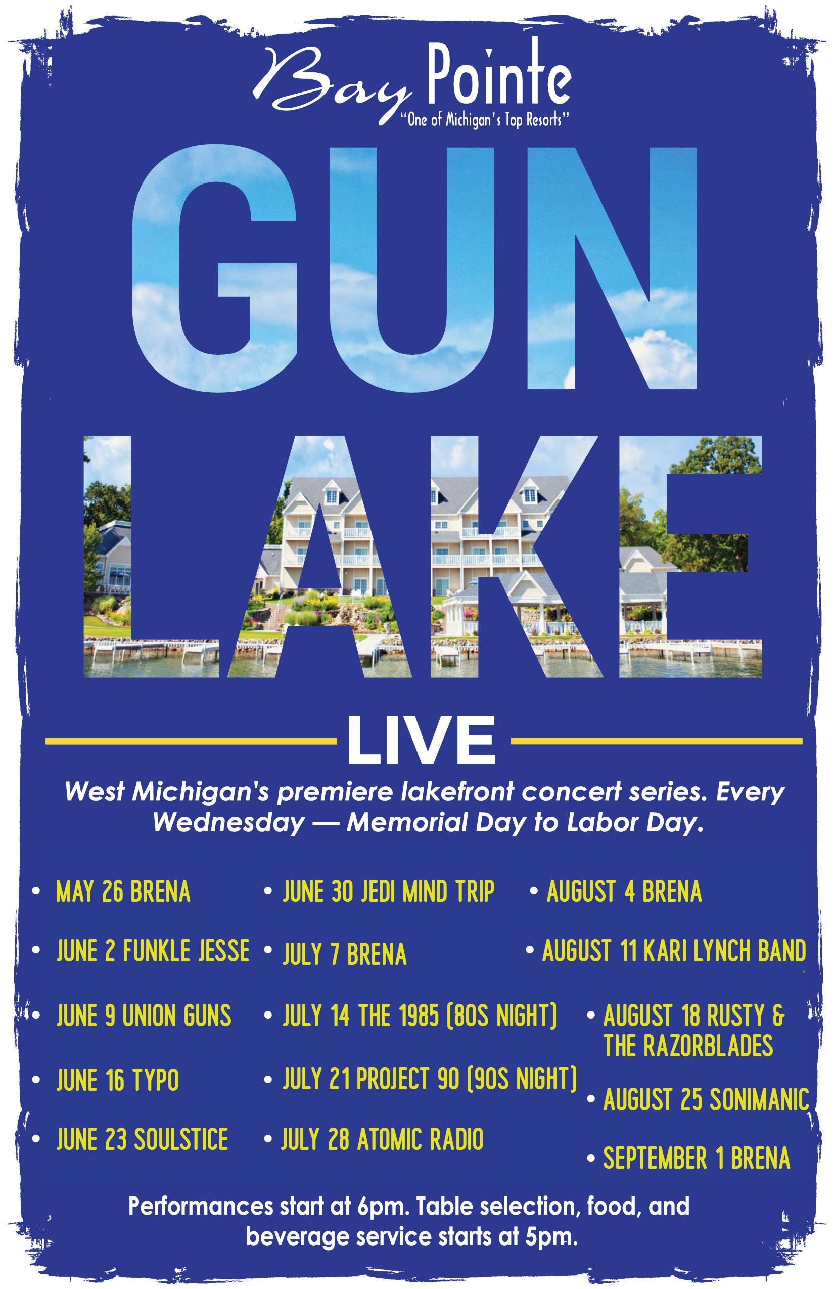 Gun Lake Live Schedule 2021