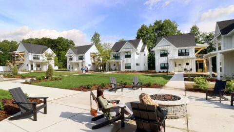 A phot of a resort to relax at that's near Michigan bike trails.