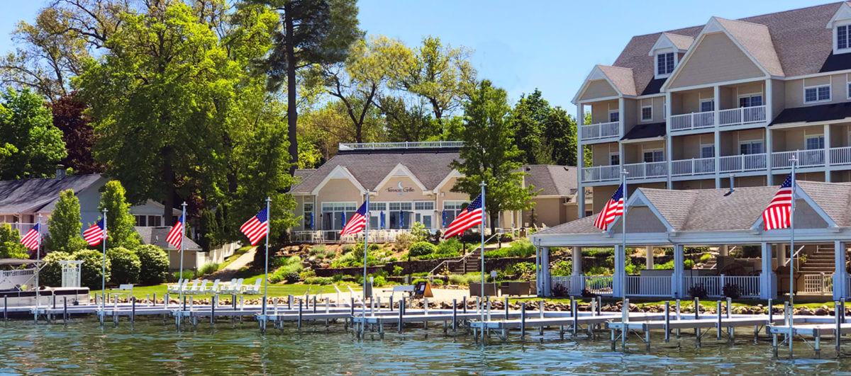 A photo of a resort near Southwest Michigan breweries.