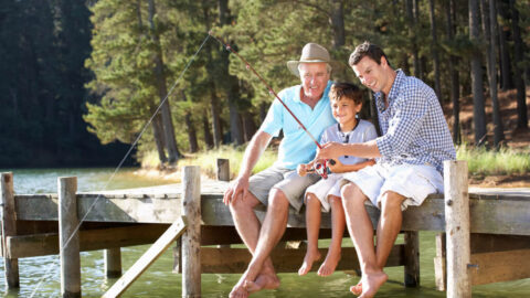 A photo of a family enjoying fishing in Yankee Springs Recreation Area